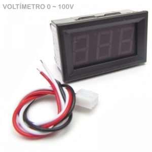 Voltímetro Digital 0 100v