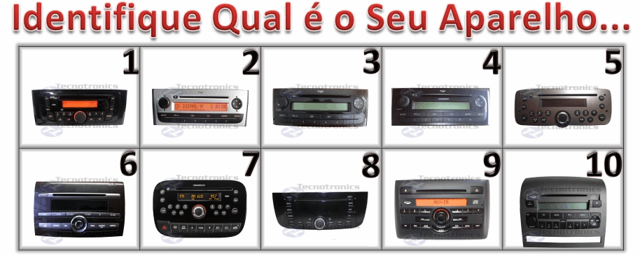Cabo Auxiliar Fiat Para Rdio Original Tecnotronics