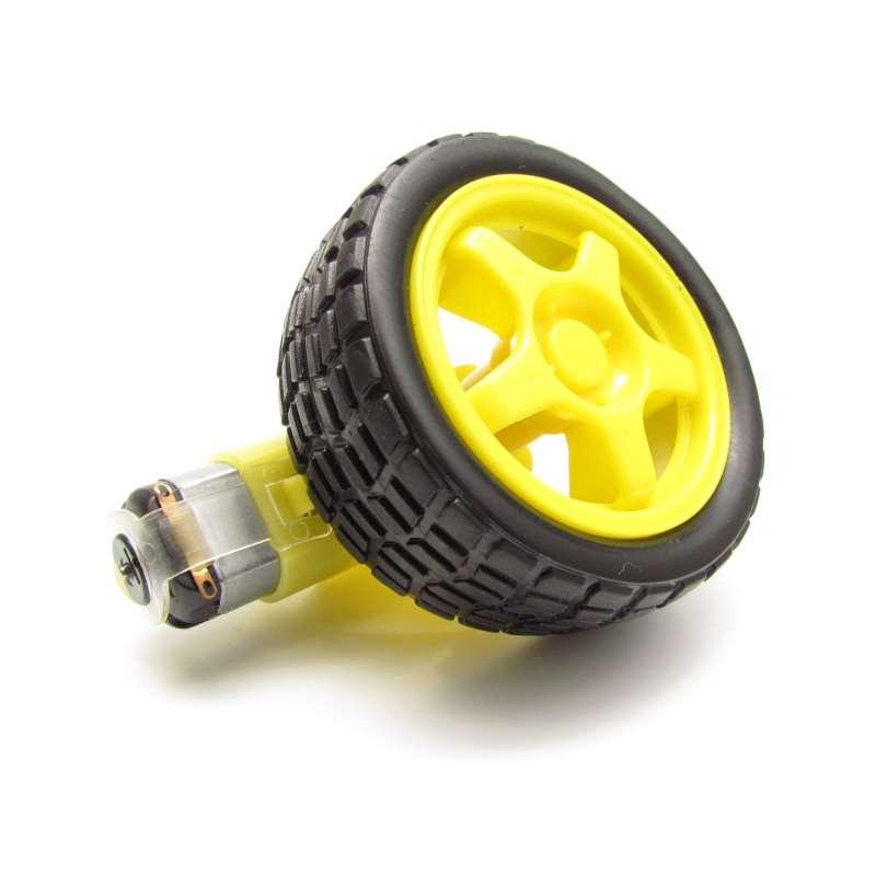 Roda + Pneu + Motor Com Redução