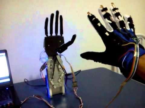 Mão Robótica Controlada por Luvas utilizando Arduino
