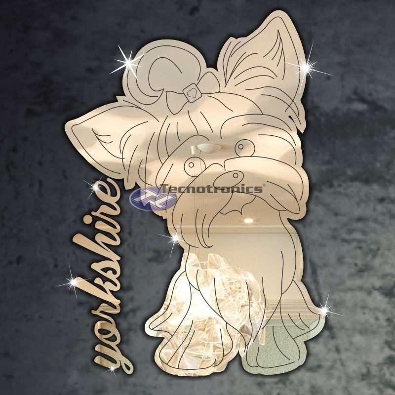 Espelho Decorativo Cachorro Yorkshire