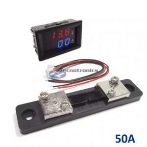 Voltímetro Digital e Amperímetro 50A