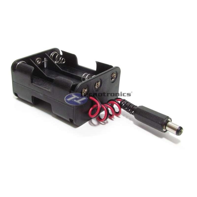 Suporte 6 Pilhas AA com Plug P4