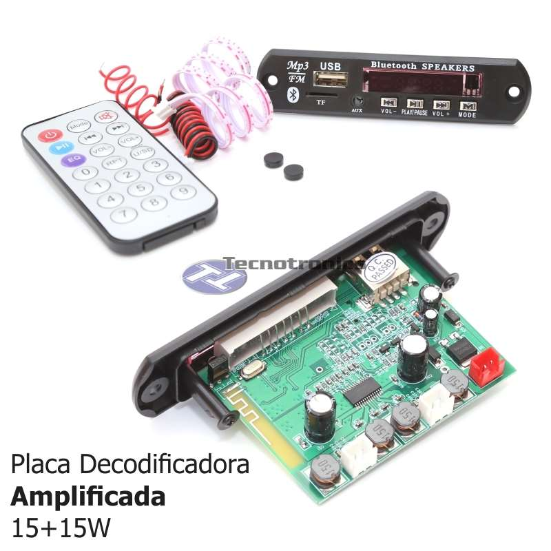 Placa Decodificadora USB Amplificada 15+15 Watts