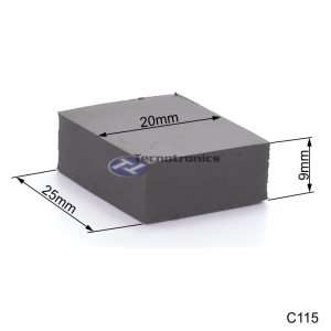 Dissipador Térmico de Silicone 25x20x9 mm