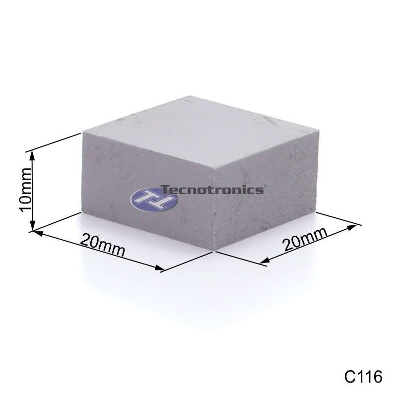 Dissipador Térmico de Silicone 20x20x10 mm